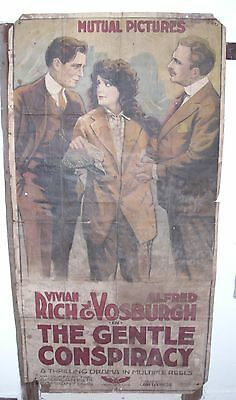 The Gentle Conspiracy Large Silent Movie Poster 1917 Mutual Pictures