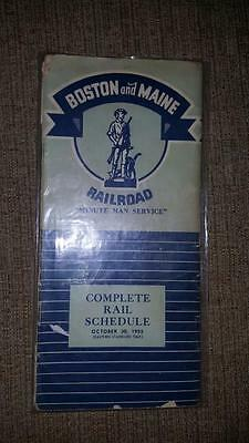The Boston and Maine Railroad Time Tables 1955