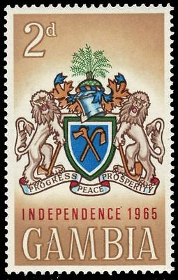 "GAMBIA 207 (SG212) - Independence ""Coat of Arms"" (pa79049)"