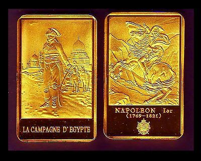 ● Gold Plated Bar ● France ● Napoleon In Front Of A Mosque In Egypt ●●