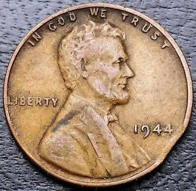 1944 Lincoln Wheat Cent ***Clipped Planchet Error Coin*** Free Combined S/H