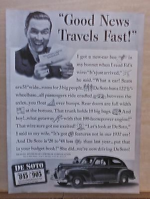 1940 magazine ad for DeSoto - Good News Travels fast, De Luxe Coupe