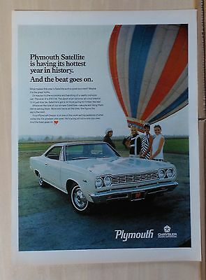 1968 magazine ad for Plymouth - Satellite & hot air balloon, Great looks