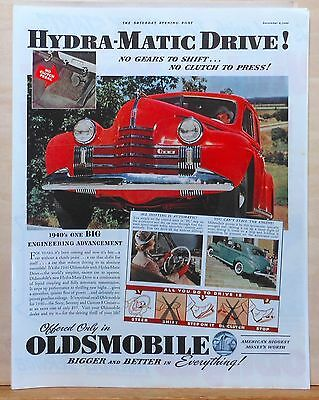 1939 magazine ad for Oldsmobile - 1940 Olds, colorful photos, Hydramatic Drive