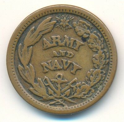 1861-64 Army Navy Patriotic Civil War Token The Federal Union Must Be Preserved