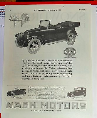 1918 magazine ad for Nash - Roadster convertible, Value Cars at Volume Prices