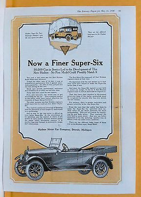 Vintage 1918 magazine ad for Hudson - Super Sixes, Perfected Ideal car