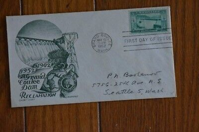 Grand Coulee Dam Washington State  Staehle Cachetcraft Fdc 1952