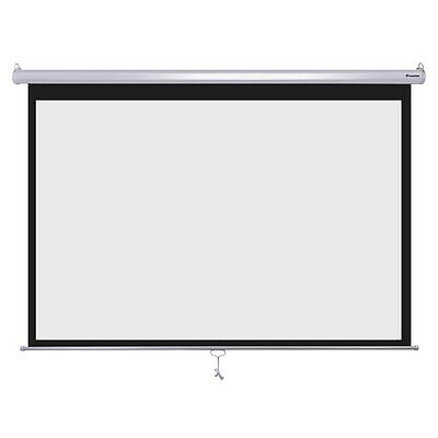 """Instahibit™ 100"""" 16:9 Movie Manual Projection Screen Pull Down Projector 87x49"""