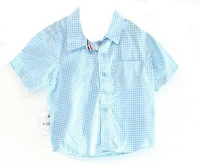 Sovereign Codes NEW Blue Baby Boy's Size 24 Months Short Sleeve Shirt $32 DEAL
