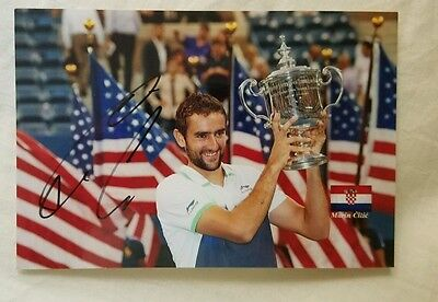 Marin Cilic Signed US Open Picture
