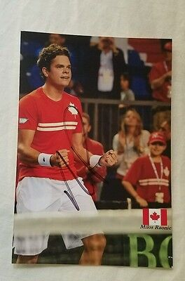 Milos Raonic Sigbed Pucture US Open