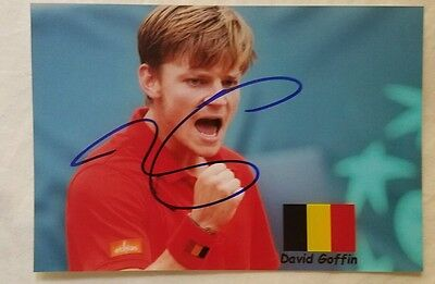 David Goffin Us Open Signed Picture