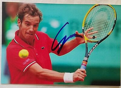 Richard Gasquet Signed US Open Picture