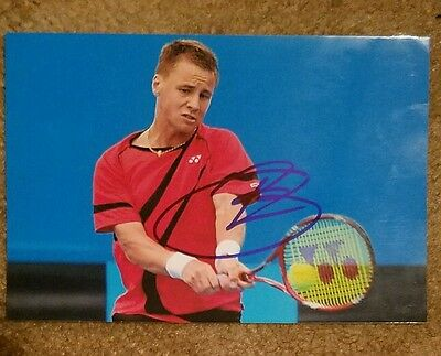 Ricardas Berankis US Open Signed Picture