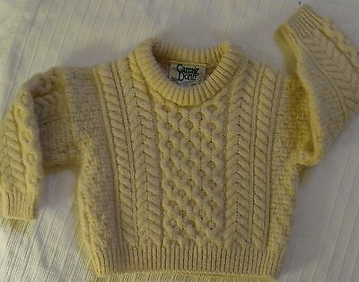 Girls, Boys, Carraig Don, Size Small (4) Pure Wool Sweater
