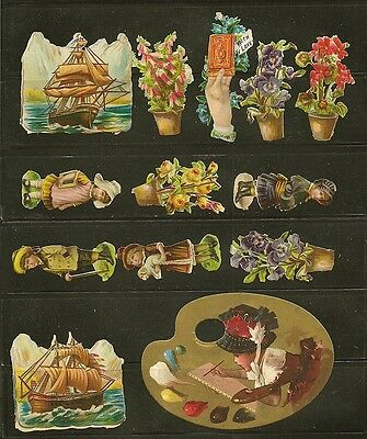 Victorian Era Die-cuts and Trade Cards