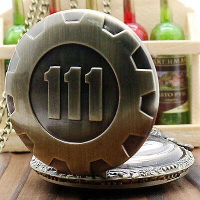 Fallout 4 Official Licensed Pocket Watch Merchandise Vault 111 Electronic Games