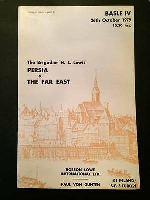 ROBSON LOWE 1979 Brigadier Lewis Persia & Far East auction catalogue