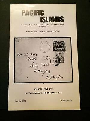 ROBSON LOWE 1973 Pacific Islands auction catalogue