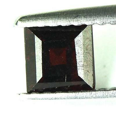#0.83 cts. 5 x 3.4 mm. NATURAL SQUARE RED ALMANDINE AFRICA
