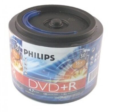 50 Philips 16X DVD+R 4.7GB (Philips Logo on Top)