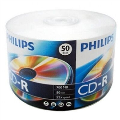 600 Philips 52x CD-R 80min 700MB (Philips Logo on Top)