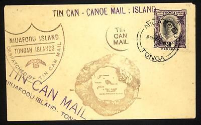 Tonga Niuafoou 1930's Tin Can Mail unadressed cover