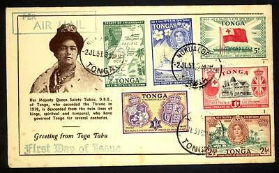Tonga 1951 50th Anniversary of Friendship with Great Britain