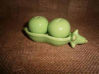 Figural PEAS IN POD Salt & Pepper SHAKERS