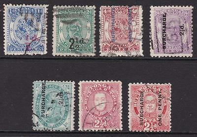 Tonga 1893-96 small selection of George I and George II used stamps