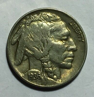 1936 Repunched Date Buffalo Nickel - XF Condition