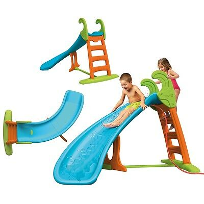 #sNew Feber Children Curve Slide with Water Connection Outdoor Pool Toy for Fun