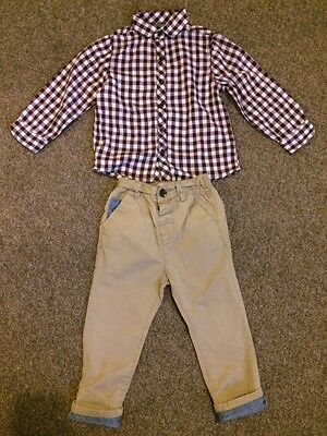 Next Boys Chinos 18-24 And Shirt Months 2-3 Years