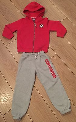 Boys bright red and grey Genuine Converse Tracksuit age 5-6. RRP £72