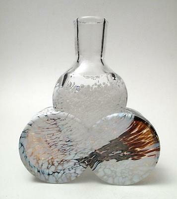 Stunning Vintage Boda Atelje Pre Kosta Scandinavian Art Glass Bottle Vase Signed