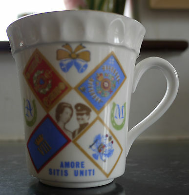 Princess Anne Capt Mark Phillips Royal Wedding China Mug c1973