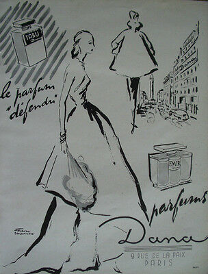 Vintage French Paper Ad 1948 Dana Perfume Lespubs
