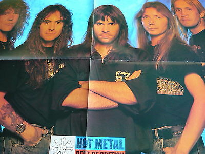 Iron Maiden - Large Fold-Out Magazine Poster (Ref Cb7)