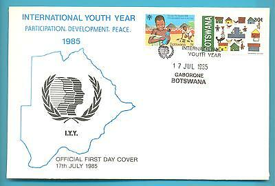 BOTSWANA FIRST DAY COVER.INTERNATIONAL YOUTH YEAR.17th JULY 1985