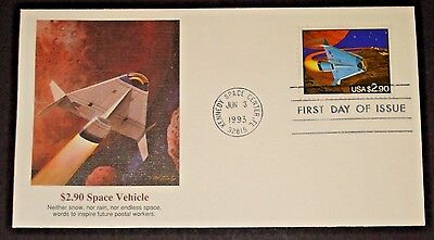 Space Shuttle $2.90 Priority Mail Fleetwood  Cachet Fdc #2543