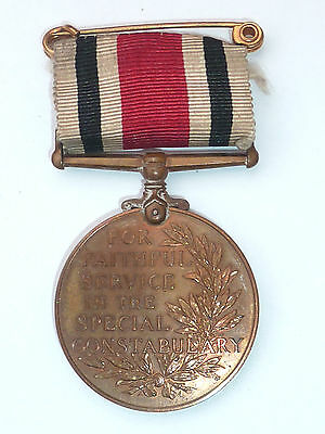 George V Police Faithful Service Medal To Herbert Brown Special Constabulary