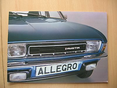 Austin Allegro Brochure From 1979  - In Near-Mint Condition!