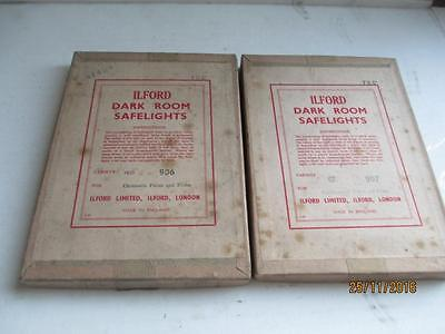 Vintage, Ilford, Photographic, Dark Room Safelights.