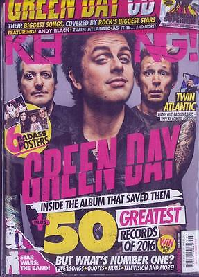 KERRANG! magazine 10 December 2016 Issue #1649 Green Day + American Superhits CD