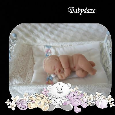 "Artist 2"""" Polymer Clay Newborn Dollshouse Baby/ Nativity Baby"