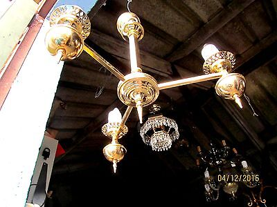 French  Gilded  Solid   Chandelier  Stunning Chic