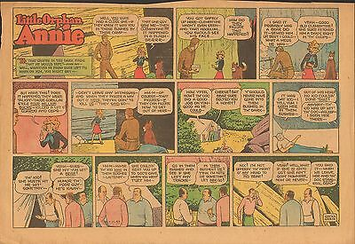 kd LITTLE ORPHAN ANNIE Sunday page July 21, 1957, Carnival