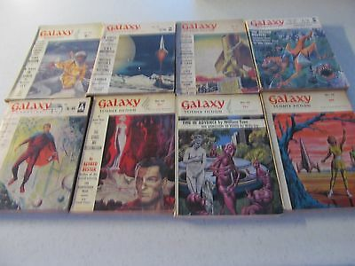 8 x collectable Galaxy Science Fiction magazines from 1950s/1960s starting 99P