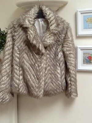 Girls Marks & Spencer Faux Fur Jacket Age 11-12